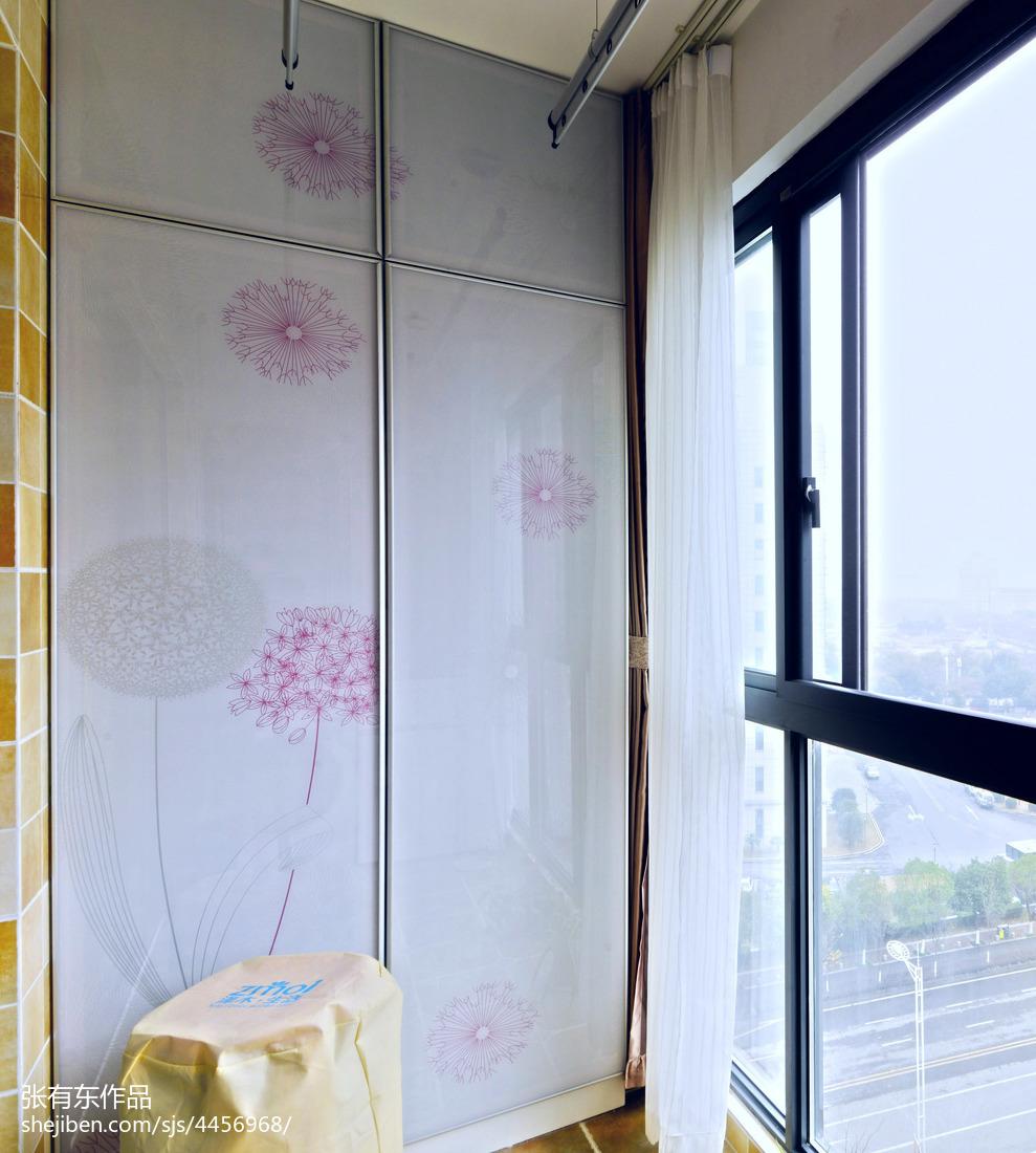 温馨75平美式二居阳台装修案例