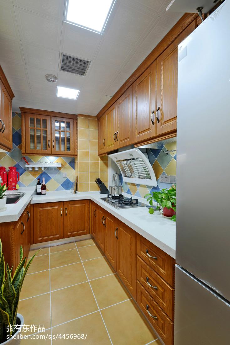 典雅85平美式二居厨房设计案例