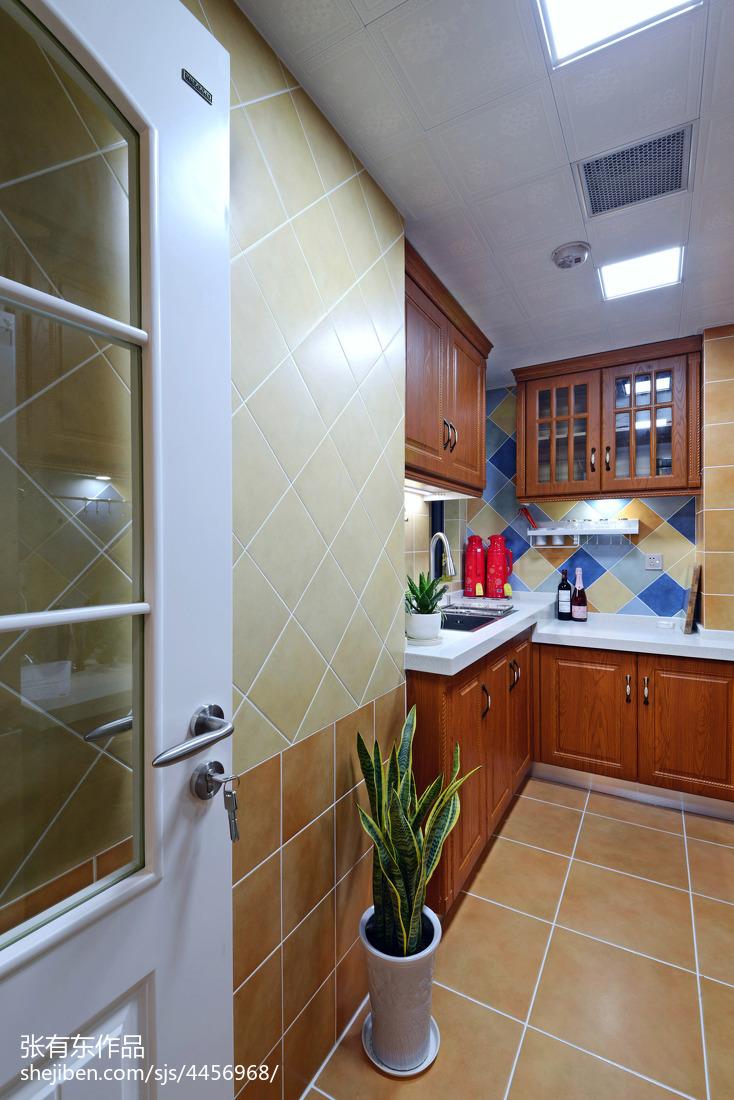 大气75平美式二居厨房装修美图