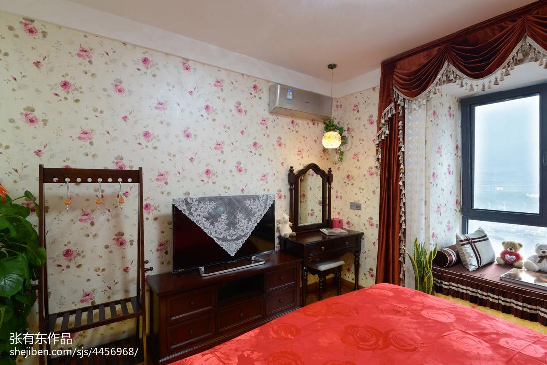 温馨63平美式二居卧室实景图