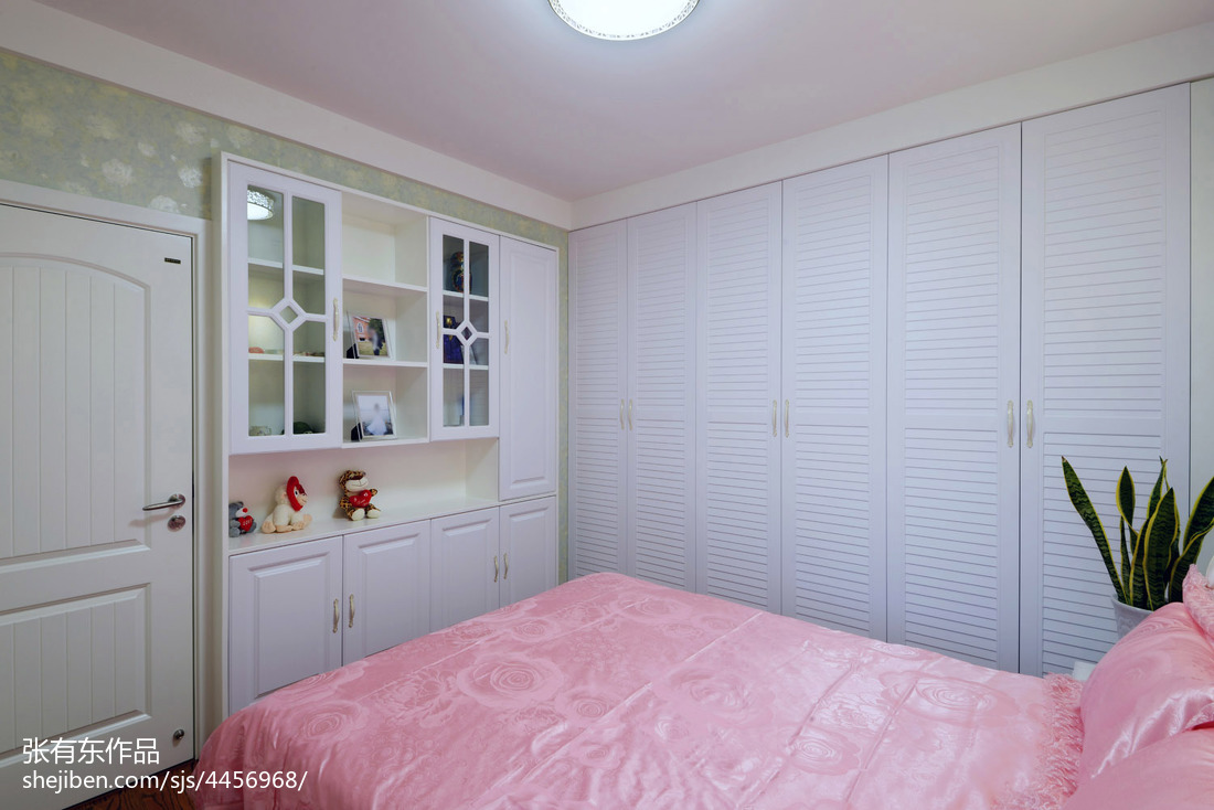 精致62平美式二居卧室装修装饰图