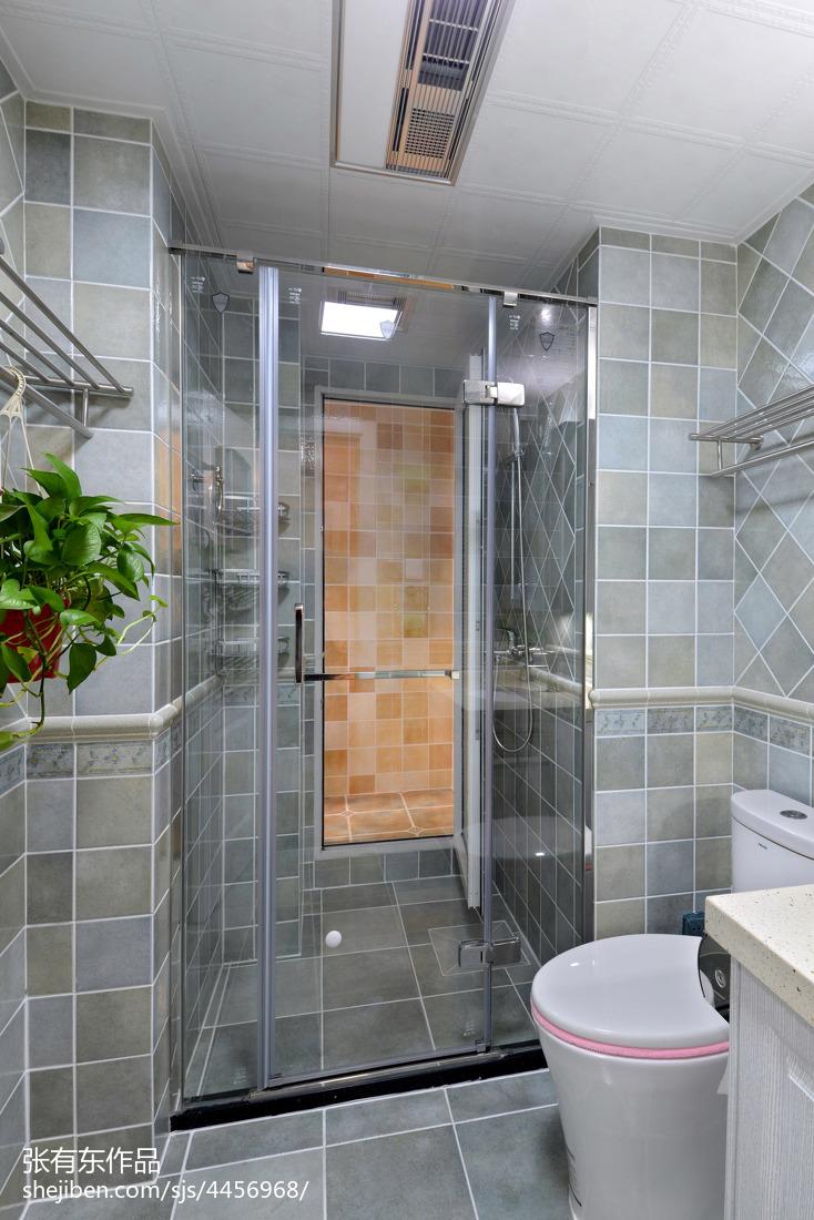质朴83平美式二居卫生间装饰美图