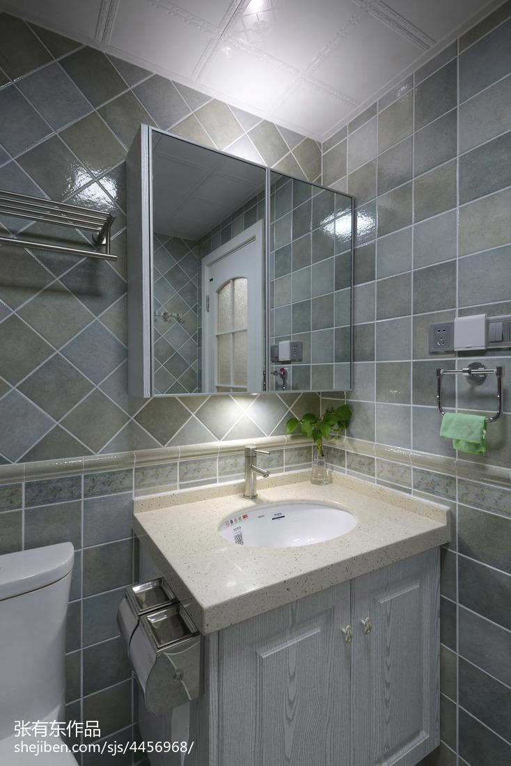 优雅57平美式二居卫生间实拍图
