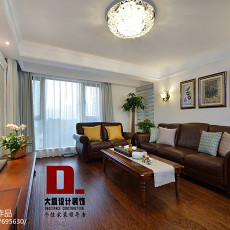 热门面积142平美式四居客厅装修图
