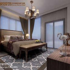 2018121平米四居卧室中式欣赏图