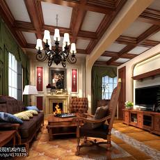 精美面积127平别墅美式效果图片欣赏