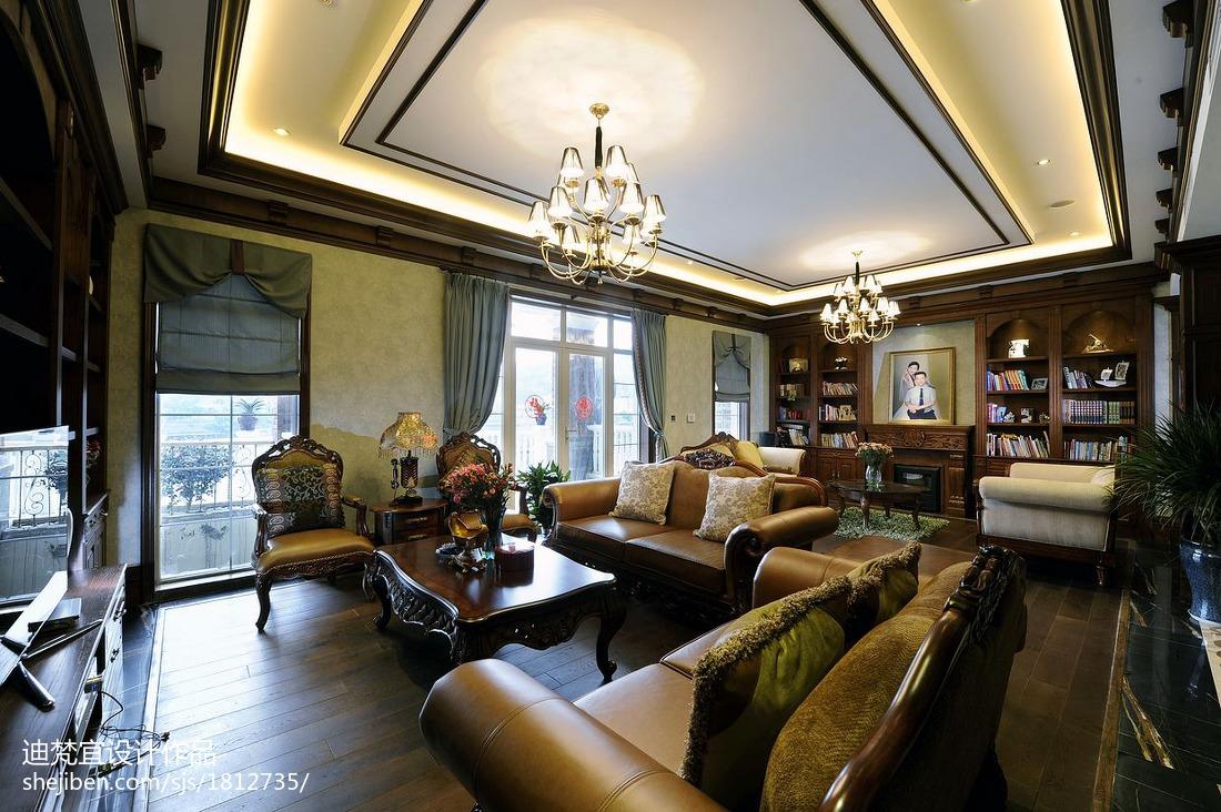 热门面积122平别墅休闲区美式效果图片大全