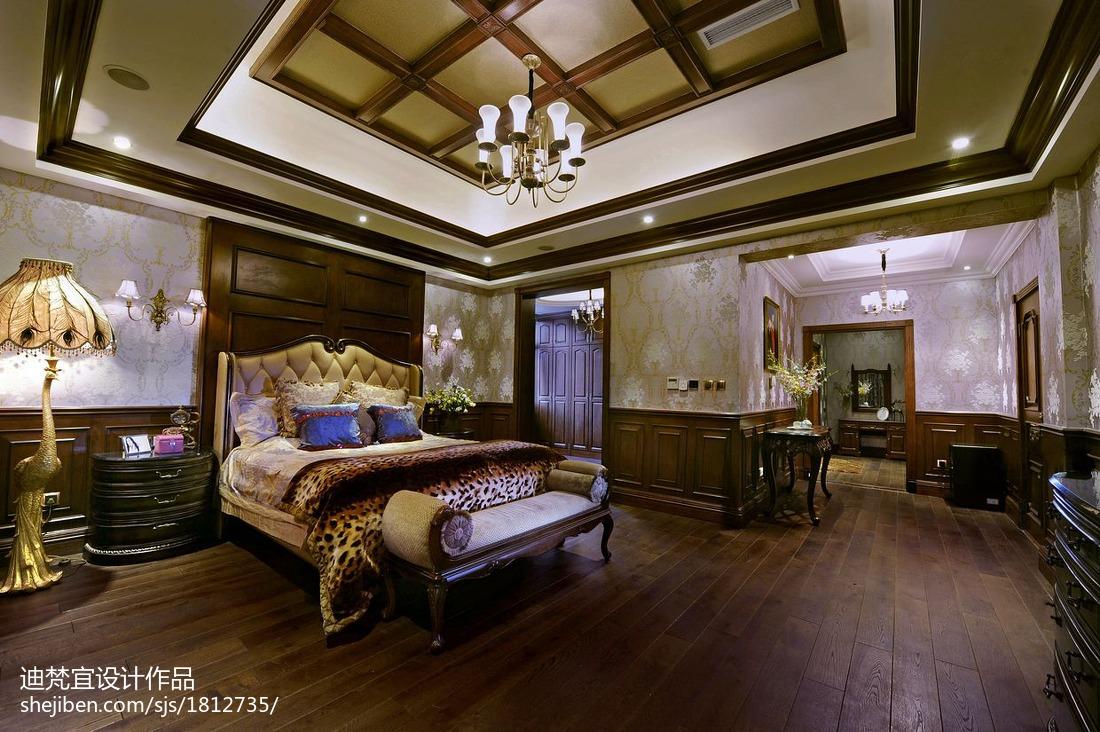 美式别墅卧室吊顶设计
