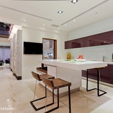 精选面积113平别墅厨房现代装修设计效果图片