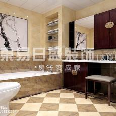热门面积138平中式四居卫生间装修图片欣赏