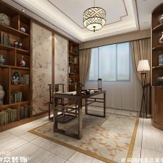 精选面积140平中式四居书房效果图片