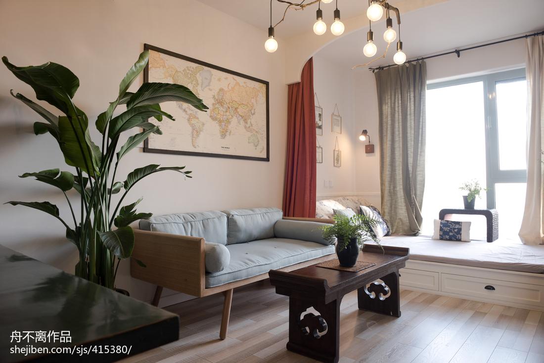 面积77平小户型客厅混搭装饰图片大全