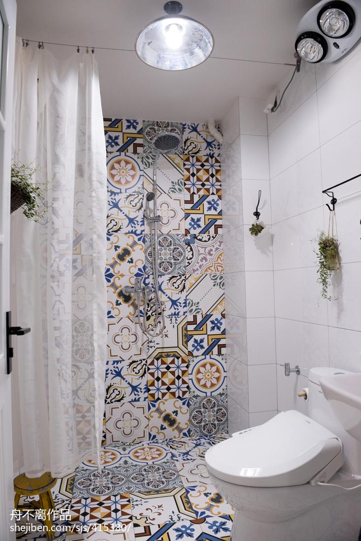 热门72平米混搭小户型卫生间装修设计效果图