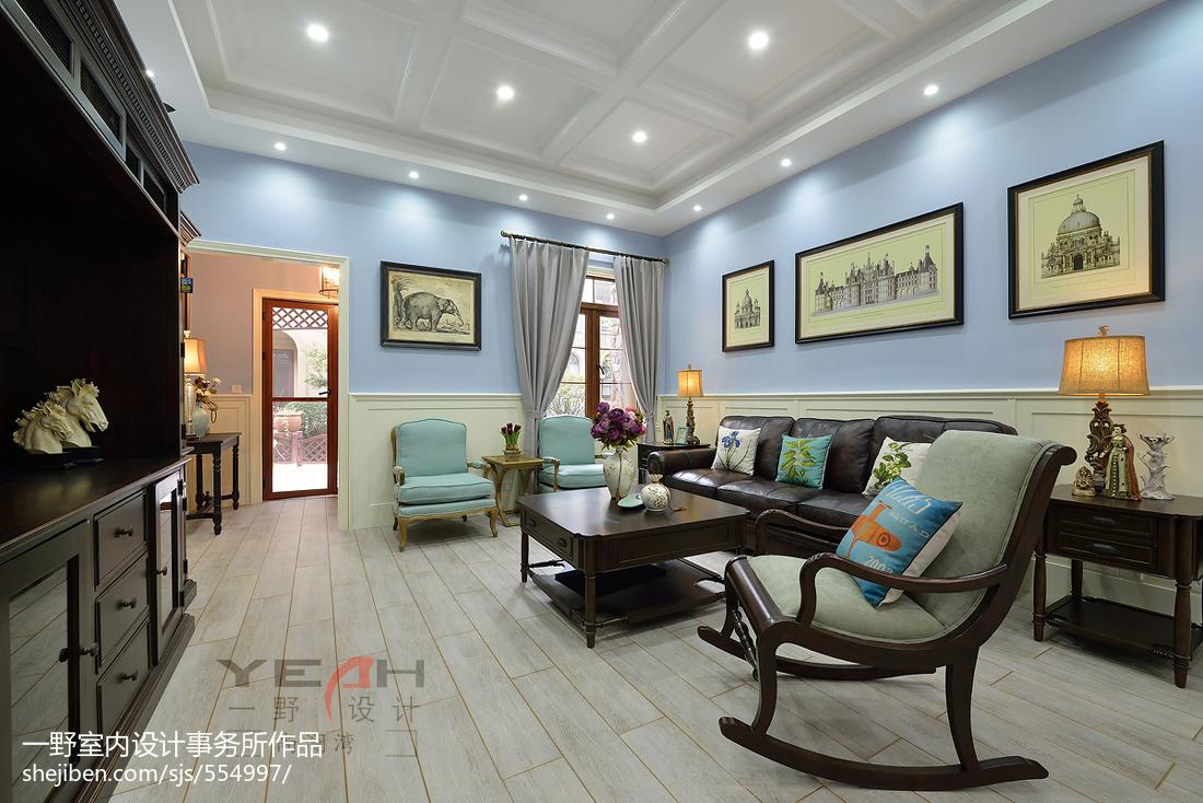 美式客厅设计图片