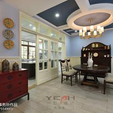 面积121平别墅餐厅美式装修设计效果图片