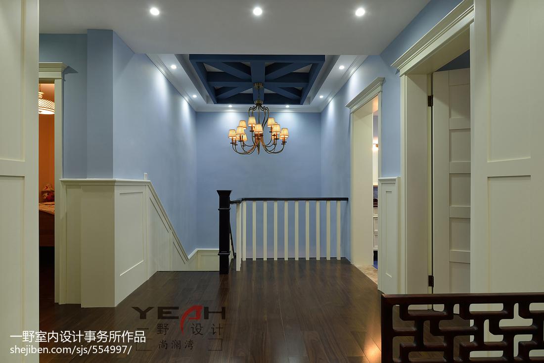 精选美式别墅过道装修设计效果图