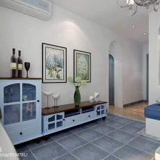 精选面积73平小户型客厅地中海装修实景图片欣赏