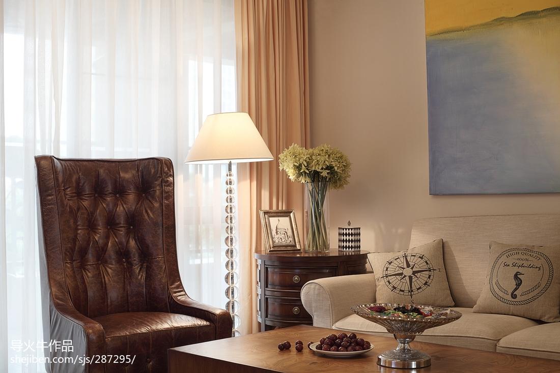 2018面积130平北欧四居客厅装饰图片
