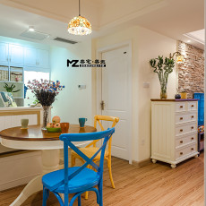 2018精选面积70平混搭二居餐厅装修效果图片
