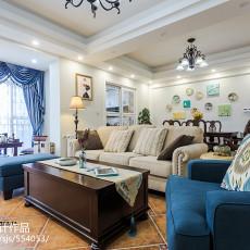 2018精选94平米三居客厅美式装修设计效果图片欣赏