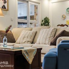 热门大小102平美式三居客厅效果图片