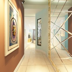 精美75平米现代小户型玄关效果图片欣赏