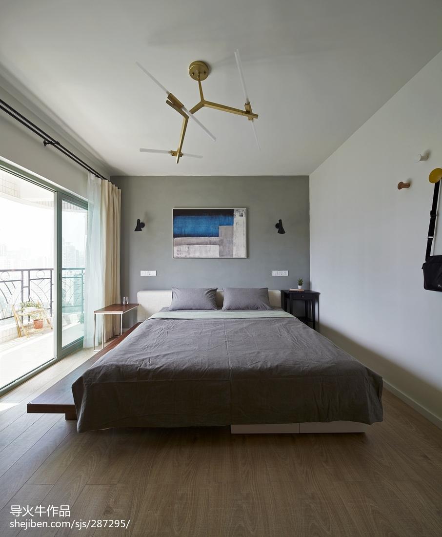 精选面积93平北欧三居卧室装修实景图片欣赏