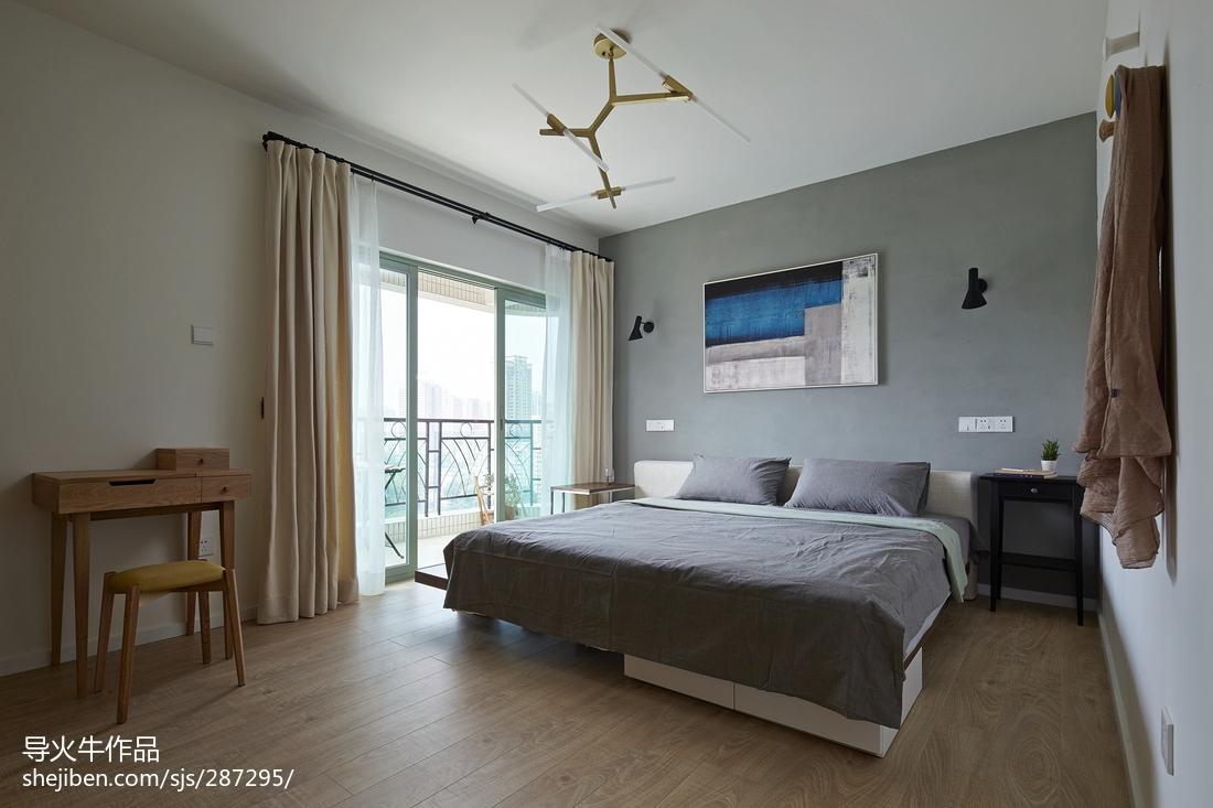 热门面积97平北欧三居卧室装修效果图
