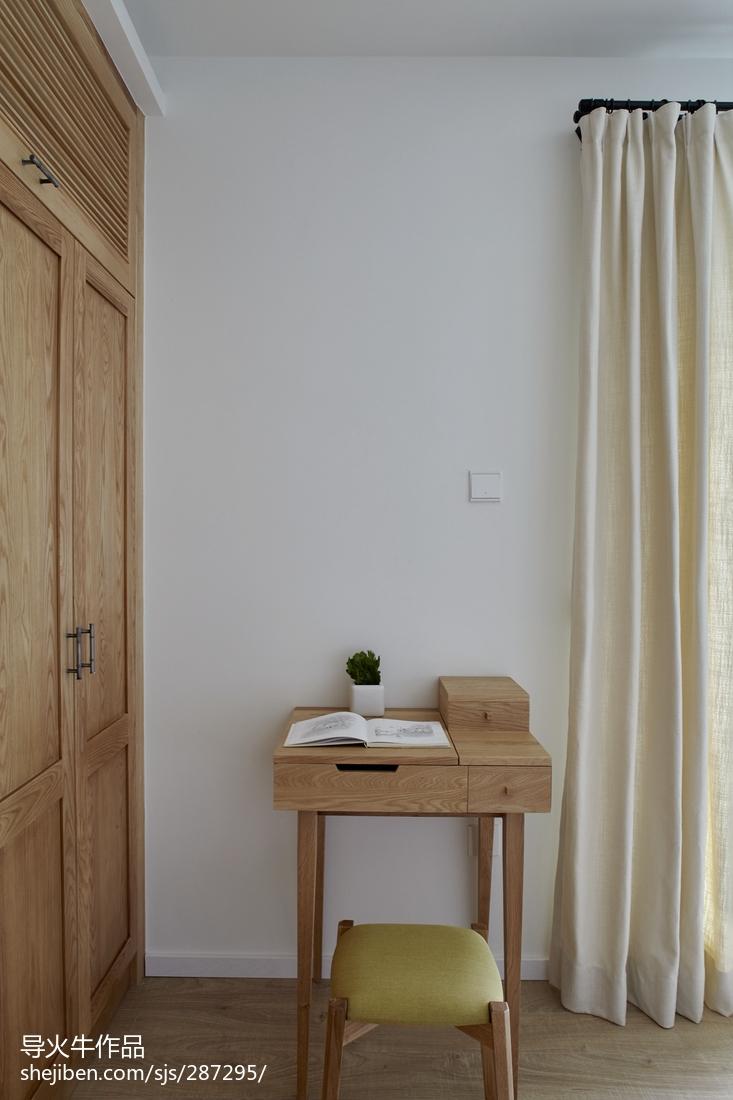 98平米三居卧室北欧装修实景图