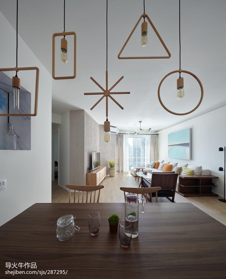 精选94平米三居餐厅北欧装修设计效果图