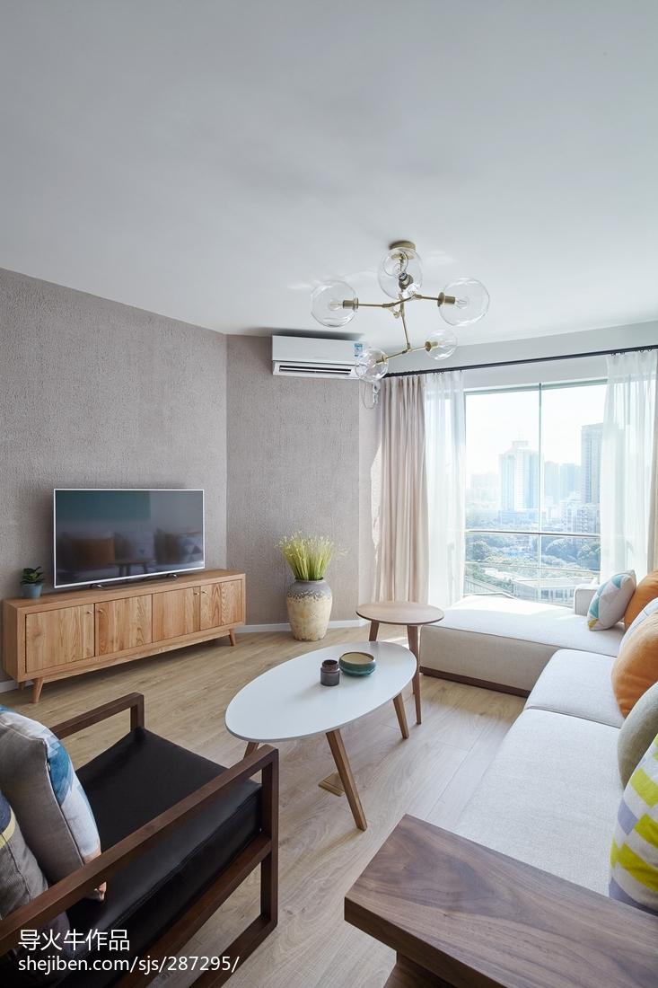 精选面积100平北欧三居客厅装修效果图