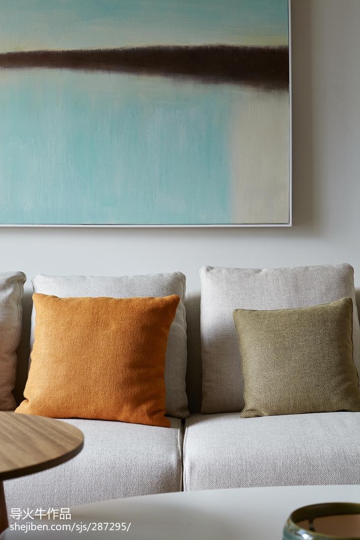 93平米三居客厅北欧装饰图