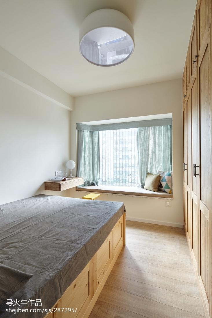精选104平米三居卧室北欧装修设计效果图片