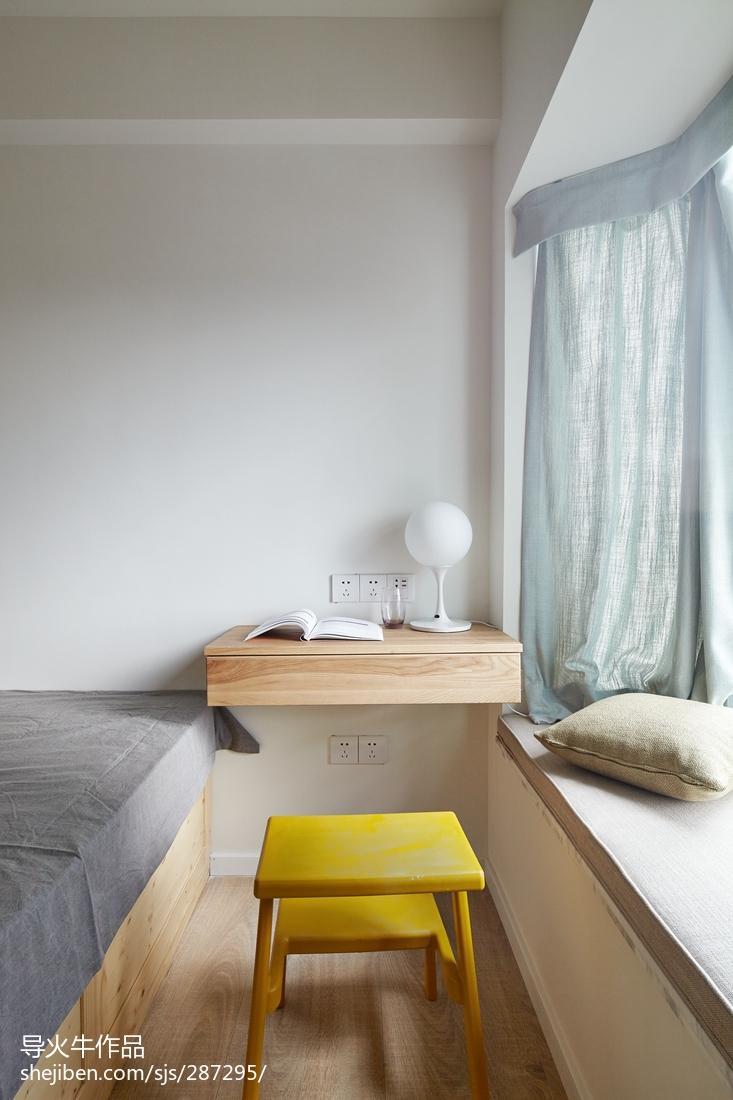 精美面积108平北欧三居卧室装修实景图片大全