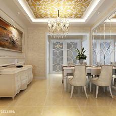 精选80平米二居餐厅欧式装修设计效果图