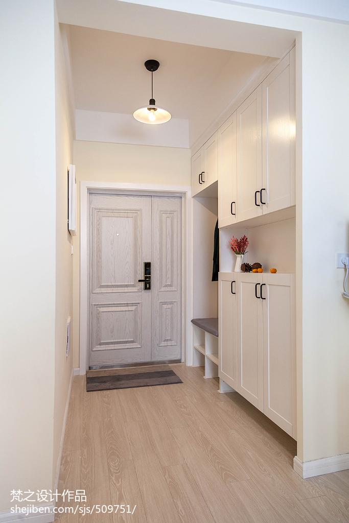 三居室混搭風格玄關鞋柜設計效果圖