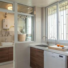 精选104平方三居厨房混搭实景图片