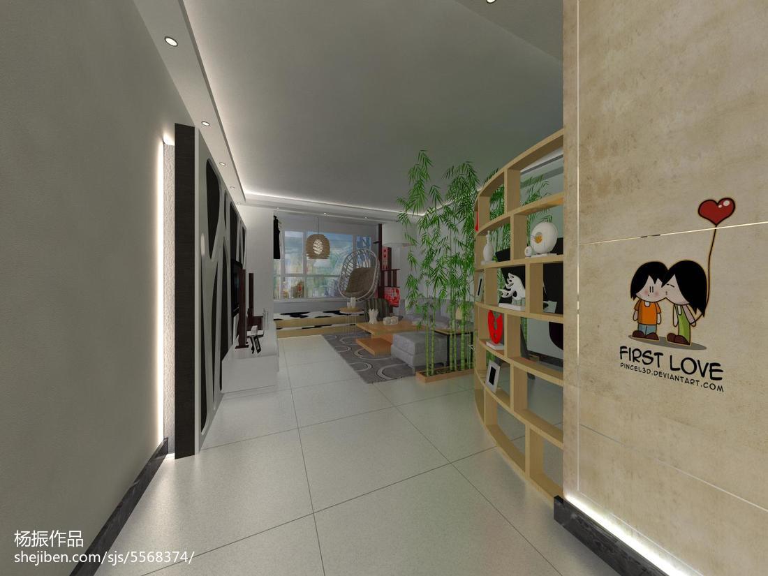 热门现代二居客厅装修效果图