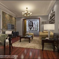 热门大小84平美式二居客厅效果图片欣赏