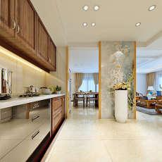 面积140平复式厨房中式装修效果图片