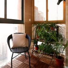 精美面积86平现代二居阳台设计效果图