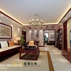 热门95平米三居客厅中式装修效果图片大全