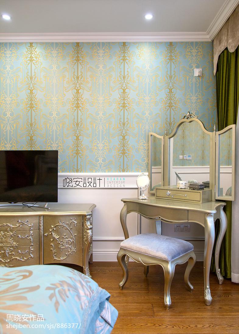 温馨576平新古典别墅卧室布置图