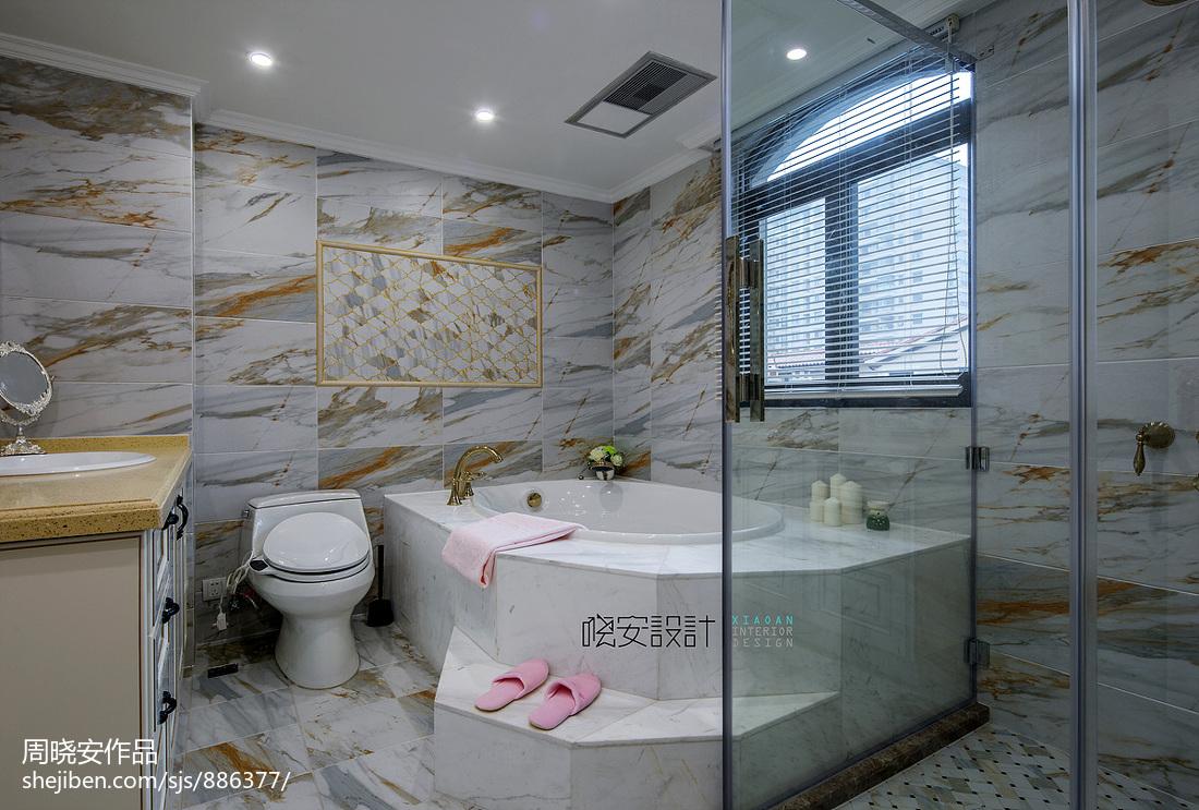 优美611平新古典别墅卫生间设计美图