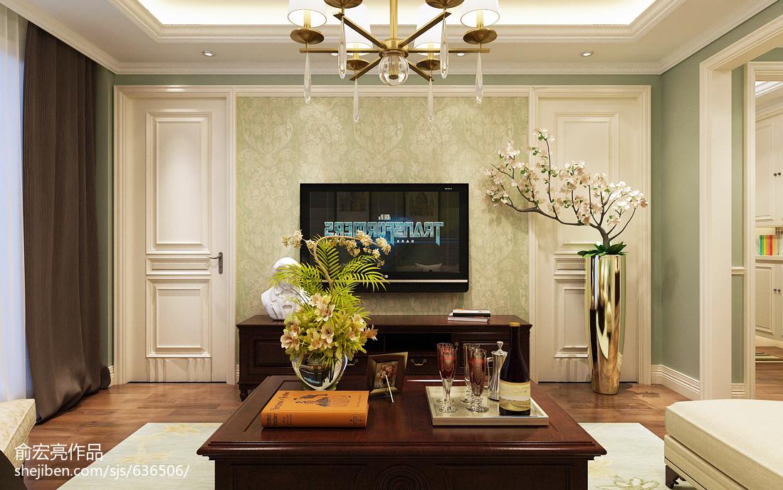 2018美式复式客厅装修欣赏图