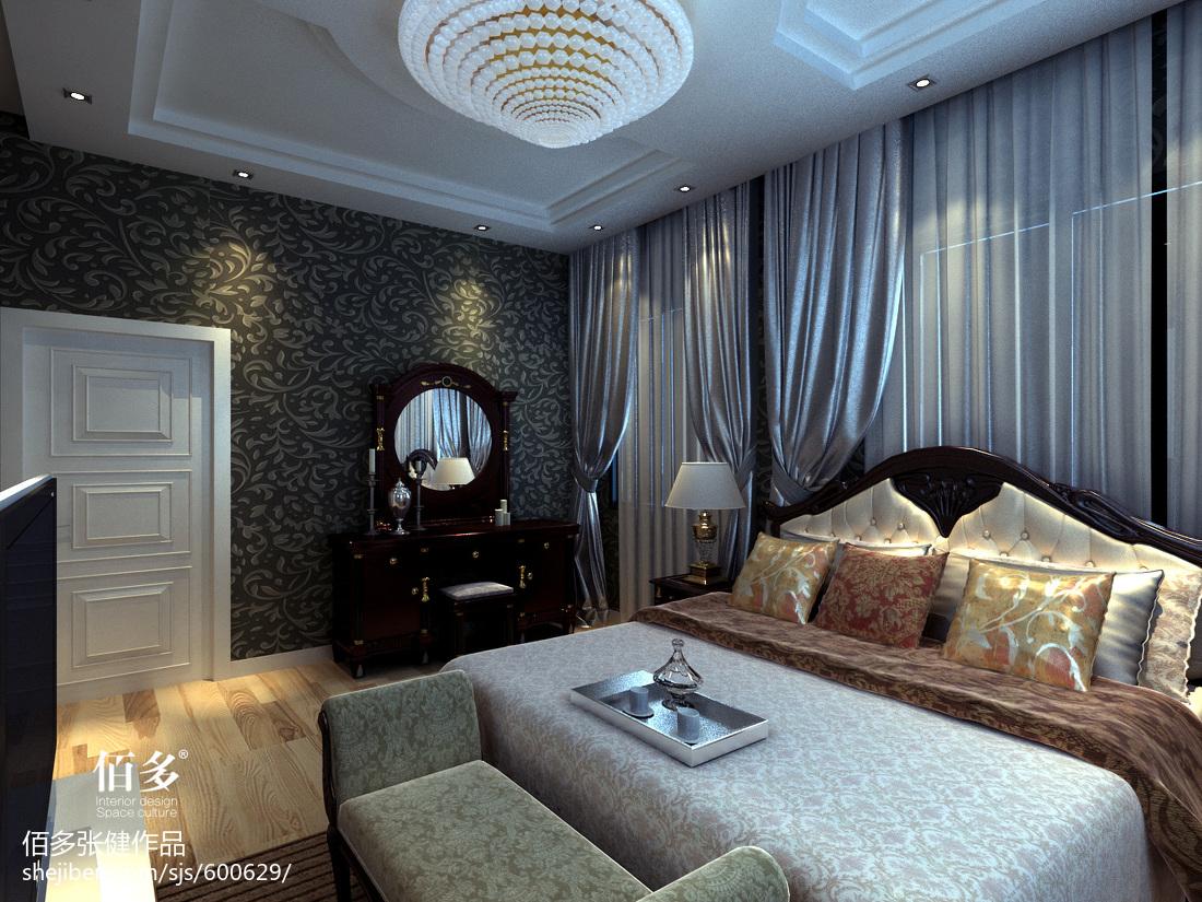 精选111平米欧式别墅卧室装饰图片大全