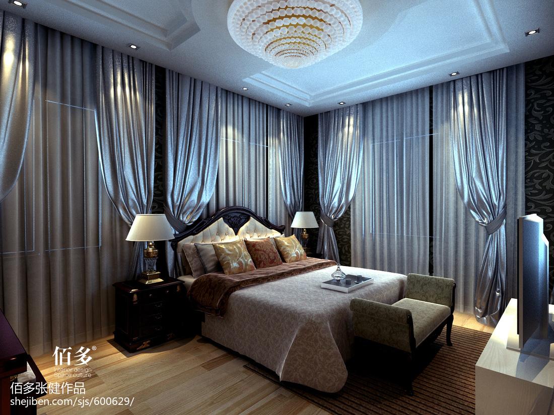 热门面积134平别墅卧室欧式装修图片大全
