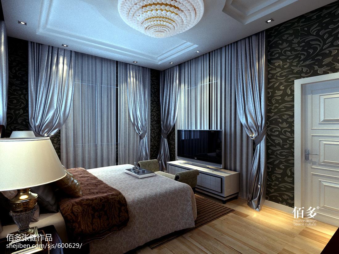 2018141平米欧式别墅卧室效果图