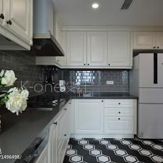 精美面积134平美式四居厨房效果图片欣赏