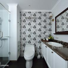 面积115平美式四居卫生间装修实景图片大全